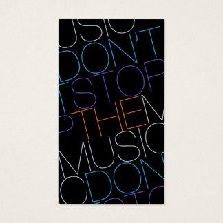 STOPPEN Sie NICHT die MUSIK-DJ-Musiker-Band Visitenkarten