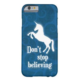 """""""Stoppen Sie nicht, Einhorn zu glauben"""" Barely There iPhone 6 Hülle"""