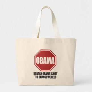 Stoppen Sie Obama Jumbo Stoffbeutel