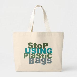 Stoppen Sie, Plastiktaschen zu verwenden Jumbo Stoffbeutel