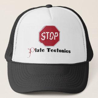 Stoppen Sie Plattentektonik Truckerkappe