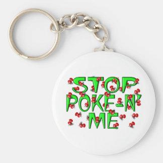 Stoppen Sie Poke-N' ich (Stoß-Buttone) Schlüsselanhänger