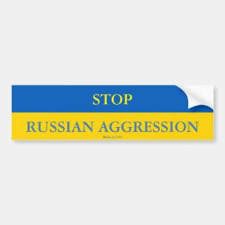 Stoppen Sie russischen Angriffs-Autoaufkleber Autoaufkleber