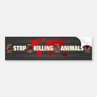 Stoppen Sie, Tiere zu töten Autoaufkleber