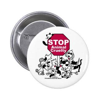 Stoppen Sie Tiergrausamkeit Runder Button 5,1 Cm