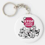 Stoppen Sie Tiergrausamkeit Schlüsselanhänger