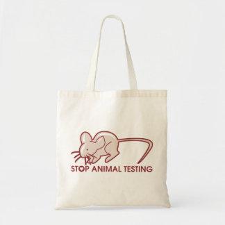 Stoppen Sie Tierversuche Budget Stoffbeutel