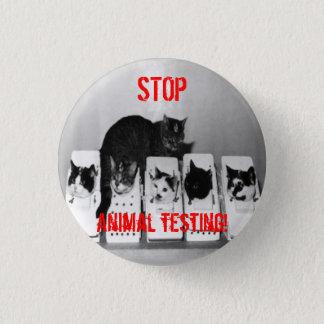 """""""STOPPEN Sie Tierversuche! """"Katzen knöpfen Button"""