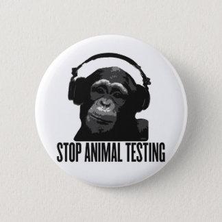stoppen Sie Tierversuche Runder Button 5,7 Cm