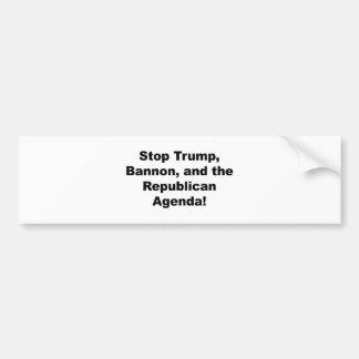 Stoppen Sie Trumpf, Bannon und die republikanische Autoaufkleber