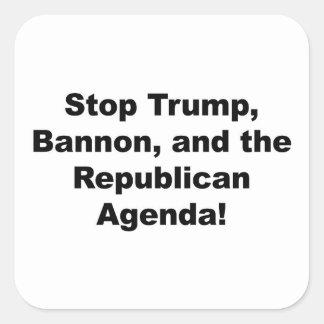 Stoppen Sie Trumpf, Bannon und die republikanische Quadratischer Aufkleber