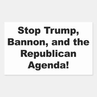 Stoppen Sie Trumpf, Bannon und die republikanische Rechteckiger Aufkleber