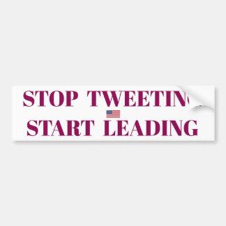 Stoppen Sie tweetenden Aufkleber Autoaufkleber