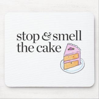 Stoppen Sie u. riechen Sie den Kuchen Mousepads
