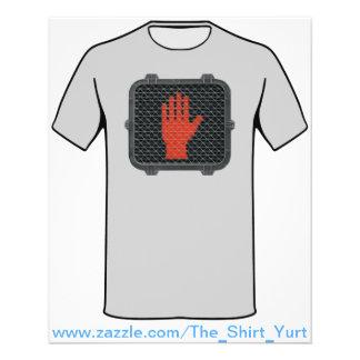 Stoppen Sie und sprechen Sie mit der Hand 11,4 X 14,2 Cm Flyer