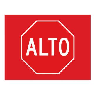 Stoppen Sie, Verkehrszeichen, Mexiko Postkarten