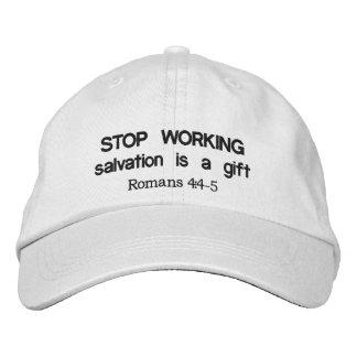 Stoppen Sie zu arbeiten Bestickte Kappe