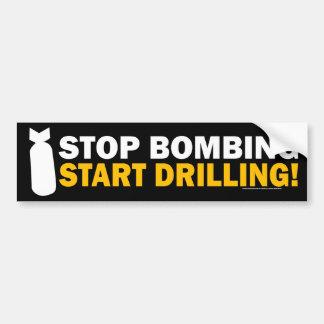 Stoppen Sie zu bombardieren, fangen Sie an zu bohr Autoaufkleber