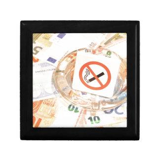 Stoppen Sie zu rauchen Erinnerungskiste
