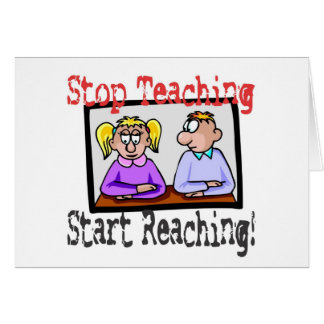 stoppen Sie zu unterrichten Karte