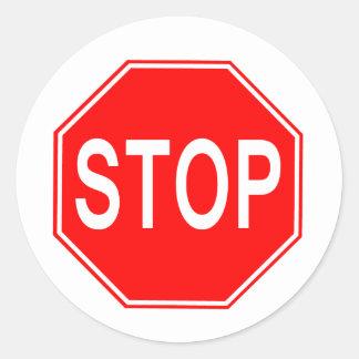 Stoppschild - Aufkleber