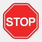 Stoppschild-Aufkleber Runder Aufkleber
