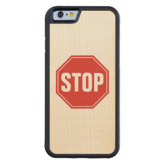 Stoppschild Bumper iPhone 6 Hülle Ahorn