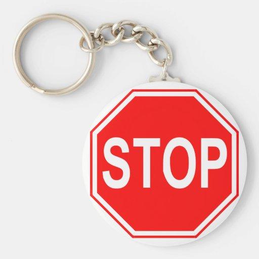 Stoppschild keychain schlüsselbänder