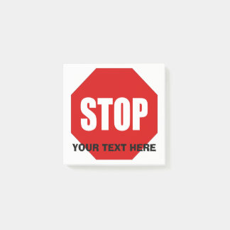Stoppschild-kundenspezifisches Post-It 3x3 Post-it Haftnotiz
