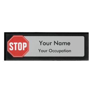 Stoppschild-Namensschild Namenschild
