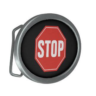 Stoppschild Ovale Gürtelschnalle