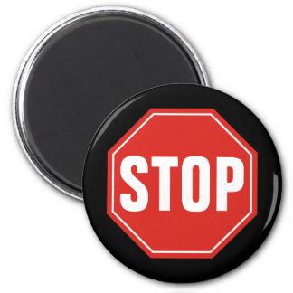 Stoppschild Runder Magnet 5,1 Cm