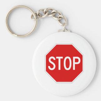 Stoppschild Schlüsselanhänger