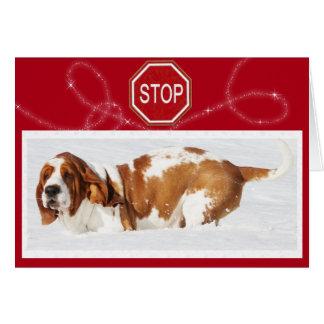 """Stoppschild"" w/Cute Dachshund Hound&Cake Karte"