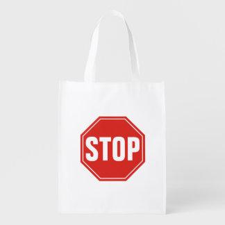 Stoppschild Wiederverwendbare Einkaufstasche
