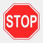 Stoppschildaufkleber Runder Aufkleber