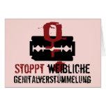 Stoppt weibliche Genitalverstümmelung! Grußkarten