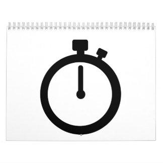 Stoppuhrzeit Kalender