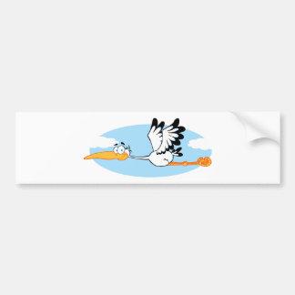Storch-Maskottchen-Cartoon-Charakter Autoaufkleber