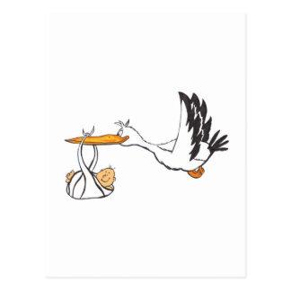 Storch mit Baby - Geschenk, damit die Eltern sind Postkarte