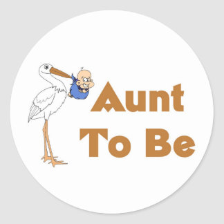 Storch-Tante To Be Runder Aufkleber