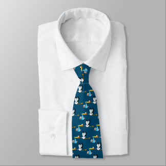 Storch- und Baby-Afroamerikaner Bedruckte Krawatte