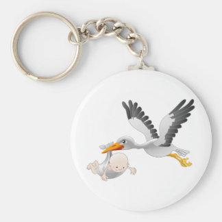 Storch und Baby Schlüsselband