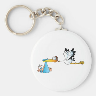Storch und Baby Schlüsselanhänger