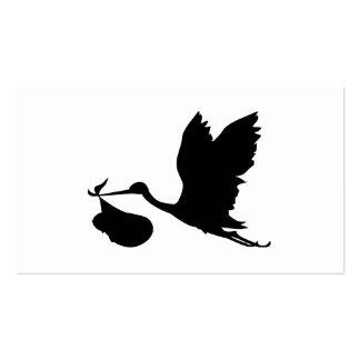 Storch und Bündel der Freude-Silhouette Visitenkarten