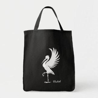 Storch-Vogel-Silhouette-Tasche Einkaufstasche