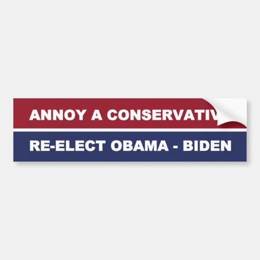 Stören Sie einen konservativen Autoaufkleber