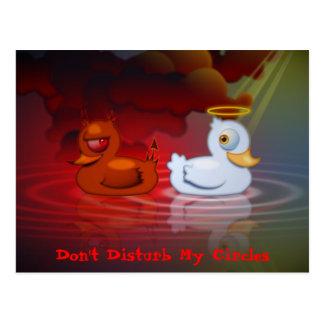 Stören Sie nicht meine Kreise Postkarte
