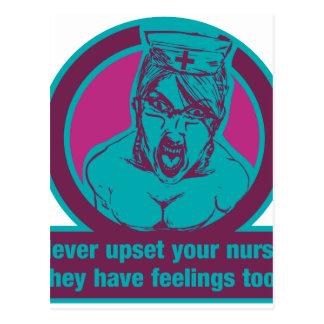 Stören Sie nie Ihre Krankenschwester, sie haben Postkarte