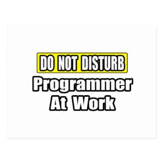 Stören Sie… Programmierer nicht bei der Arbeit Postkarte